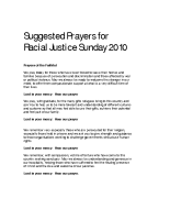 RJS 2010 Prayer suggestions