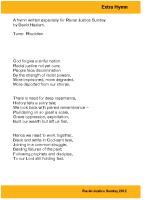 RJS 2012 – Extra Hymn