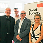 Cardinal Nichols with local community speakers