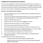 Template for Interview Questions