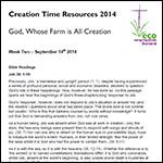 Creation Time 2014 week 1