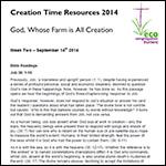 Creation Time 2014 week 2