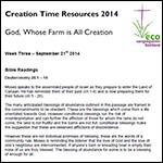 Creation Time 2014 week 3