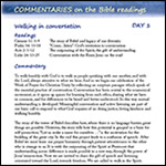 Week of Prayer for Christian Unity 2013 - Commentaries on Bible readings