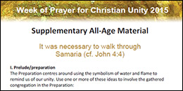 Week of Prayer for Christian Unity 2015 - All Age