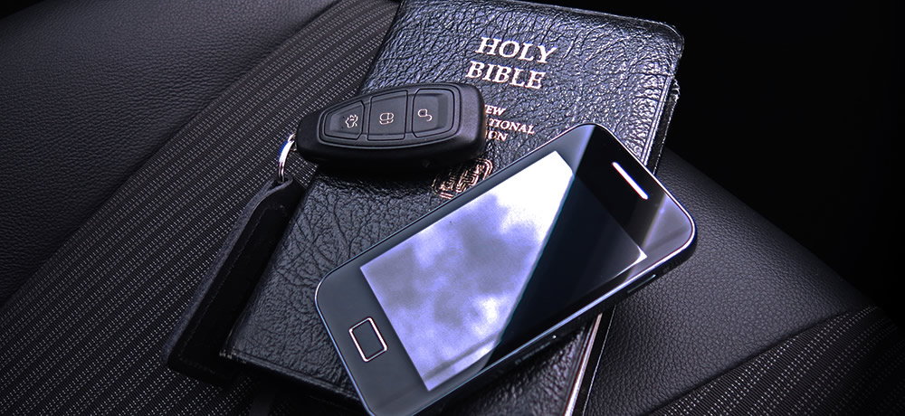Bible and Keys in car