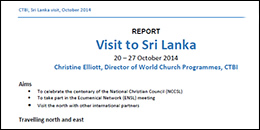 CTBI Sri Lanka visit October 2014