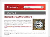 Churches Together in England - WWI resources