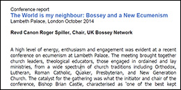 The World is my neighbour, Bossey and a New Ecumenism - Revd Canon Roger Spiller