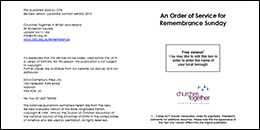 Remembrance Sunday order of service (Word format)