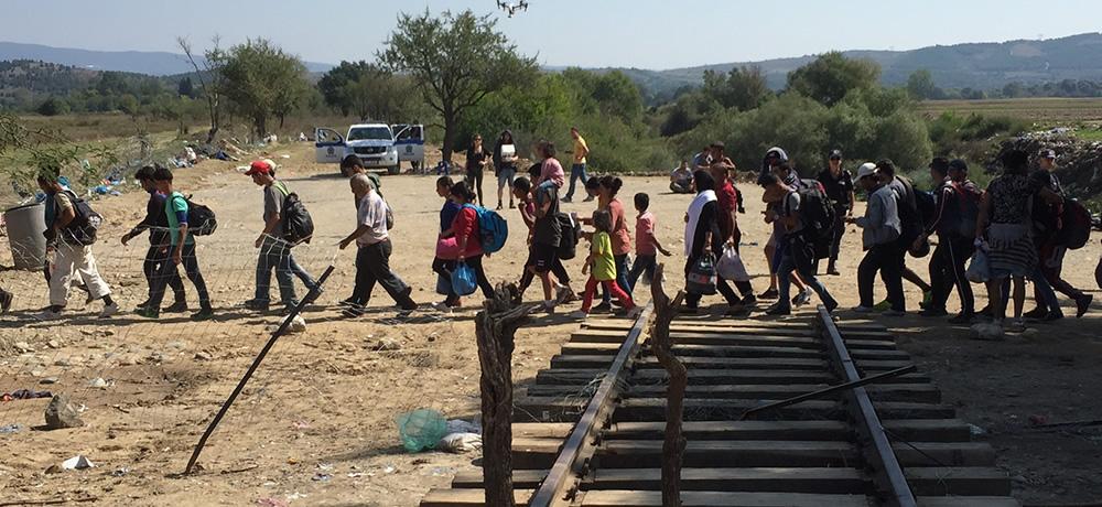 Refugees at the Greece / Macedonia border