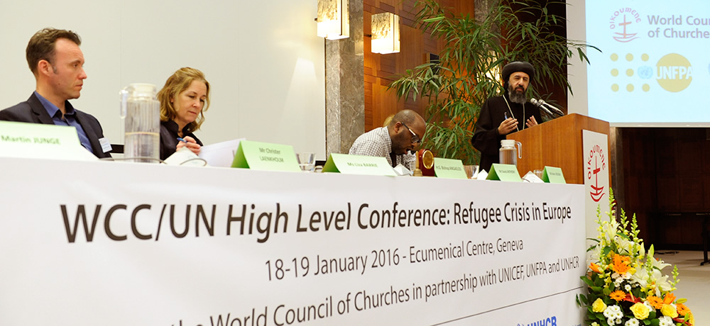 WCC/UN high level conference on the refugee crisis