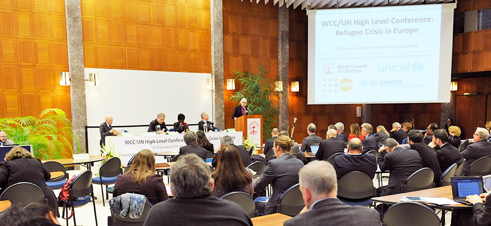 World Council of Churches / UN conference on refugee crisis