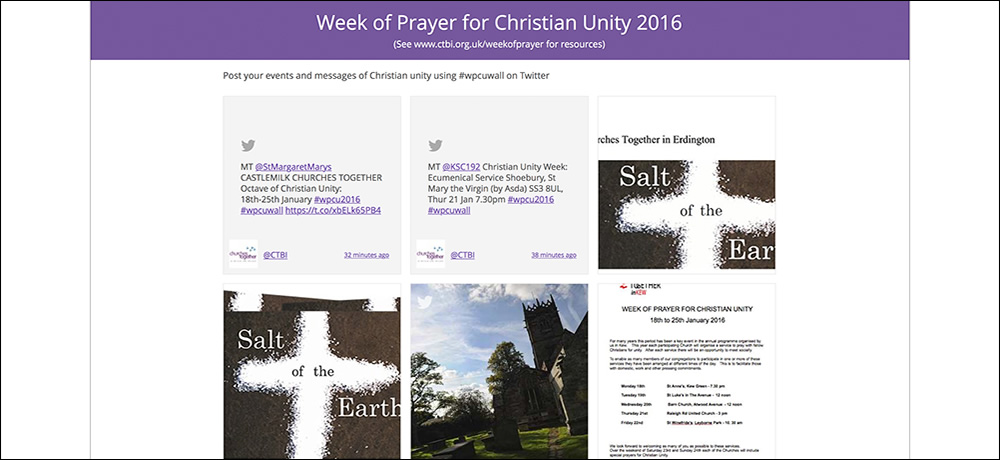 Week of Prayer for Christian Unity wall