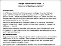 CofE resettlement factsheets