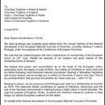 EU referendum: letter from General Secretaries of the European National Councils of Churches