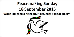 Peacemaking Sunday 18 September 2016