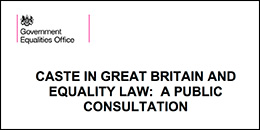 UK government public consultation on caste discrimination