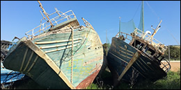 fishing boats used by refugees