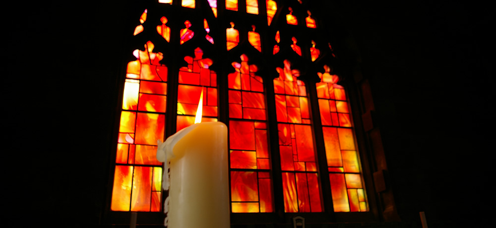 Candle in Manchester Cathedral