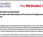 CofE-Methodist Mission and Ministry in Covenant