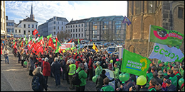 Bonn climate change march before COP23