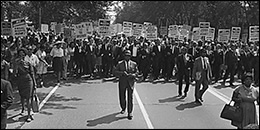 March to Washington to commemorate the centenary of President Abraham Lincoln's 'Emancipation Proclamation' to free African-Americans