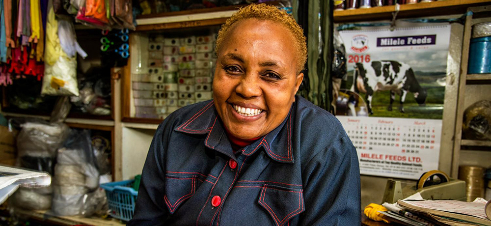 Grace Njoroge whi has benefited from microfinance