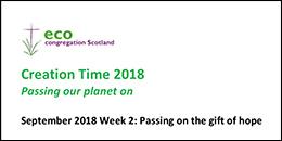 Creation Time 2018 Week 2