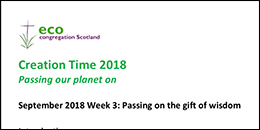 Creation Time 2018 Week 3