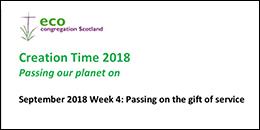 Creation Time 2018 Week 4