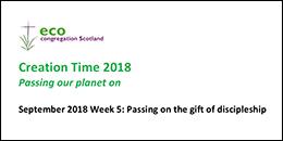Creation Time 2018 Week 5