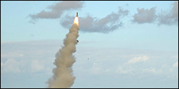 cruise missile being fired