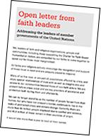 faith leaders' letter