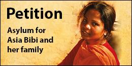 Asia Bibi asylum petition