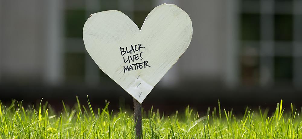 'Black Lives Matter' written on a heart